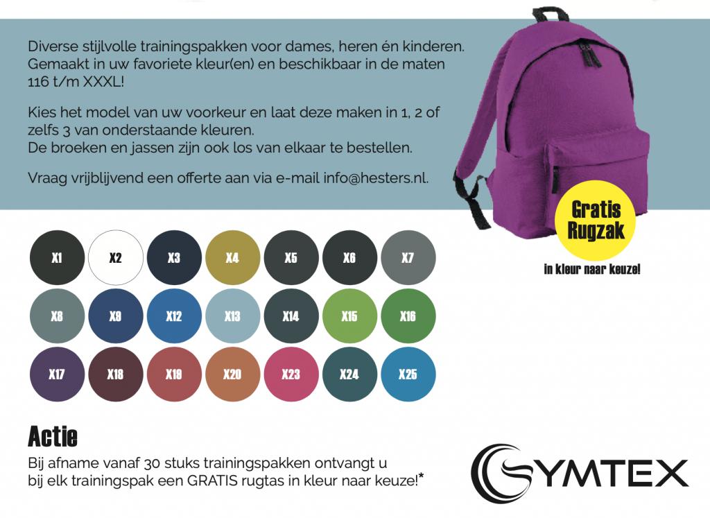Actie Gymtex trainingspakken
